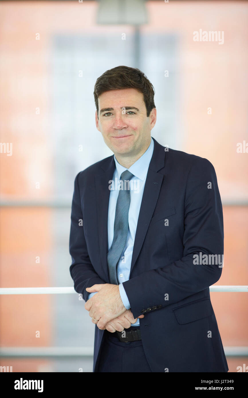 Labour's candidate for Greater Manchester's first mayoral election Andy Burnham MP - Stock Image