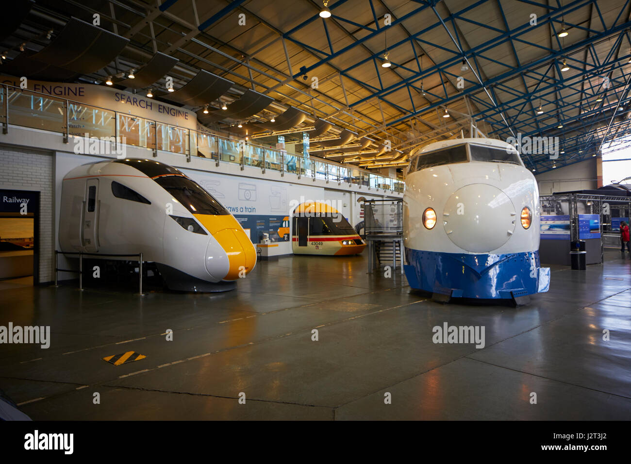 West Japan Railways Shinkansen 'Bullet Train Great Hall York, National Railway Museum. - Stock Image