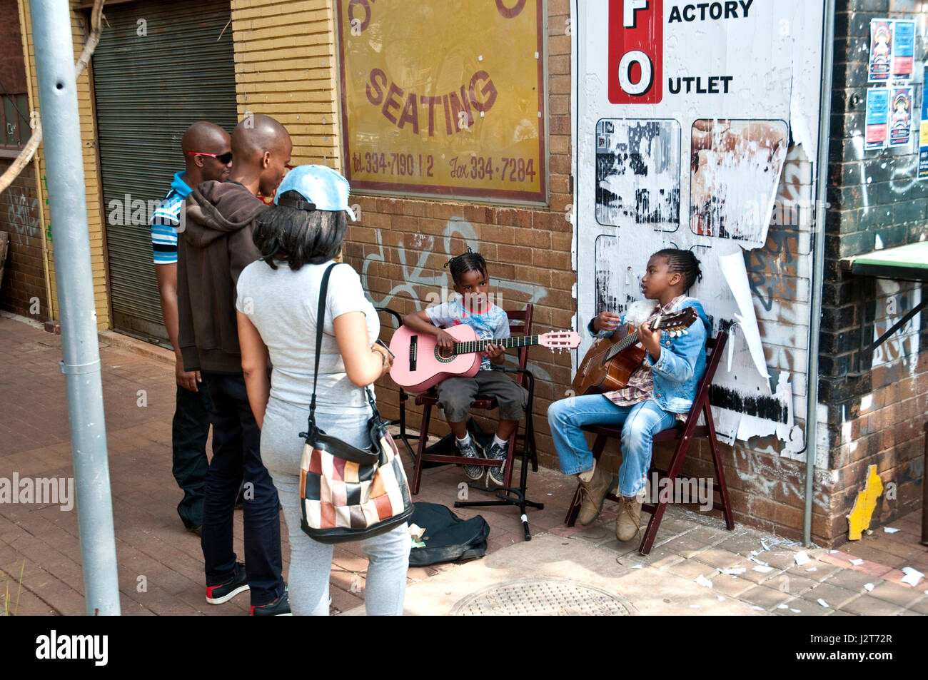 Trendy Maboneng District in downtowm Johannesburg Central Business District Gauteng Province South Africa - Stock Image