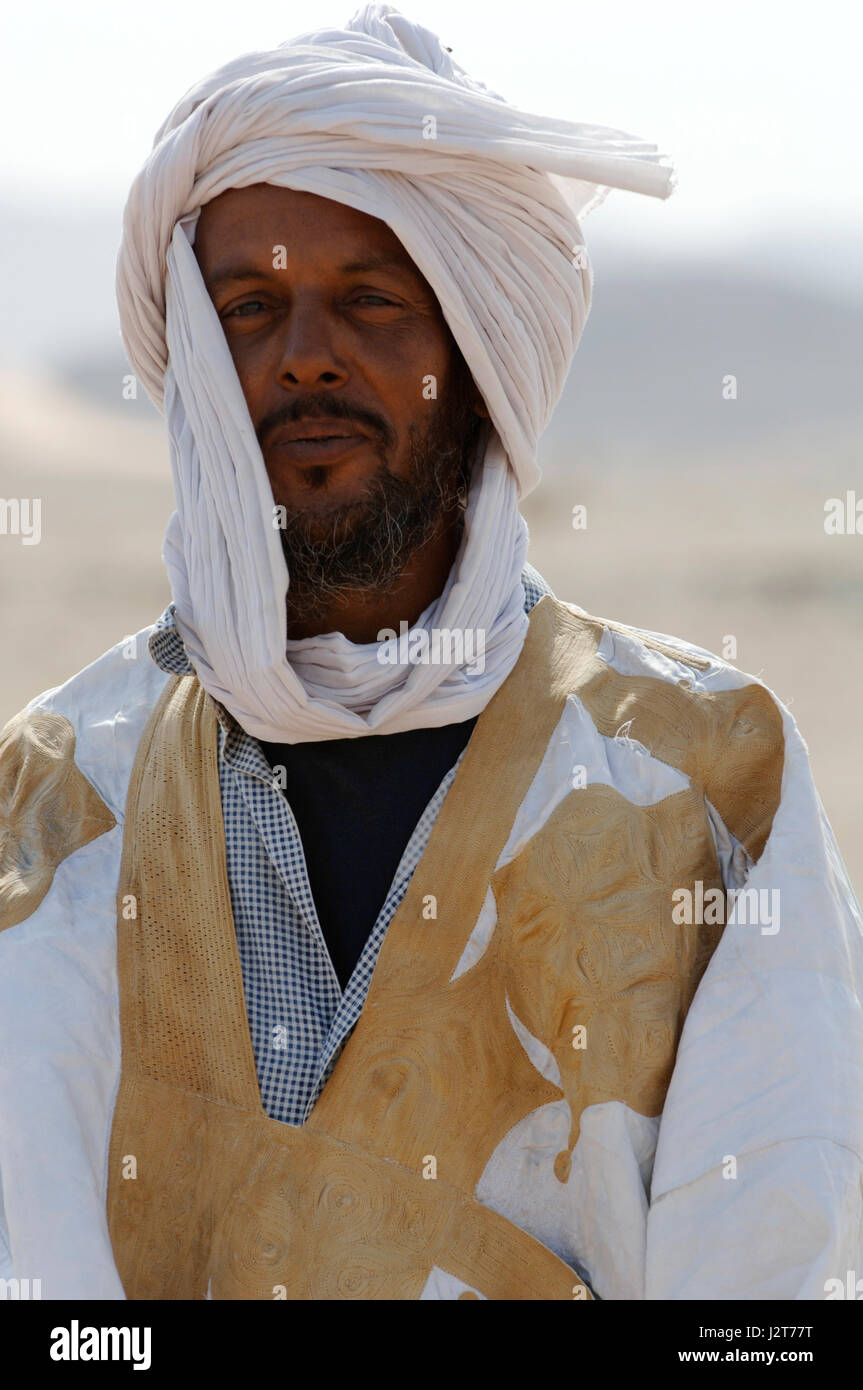 Wild adventure in the Western Sahara desert Mauritania West Africa - Stock Image