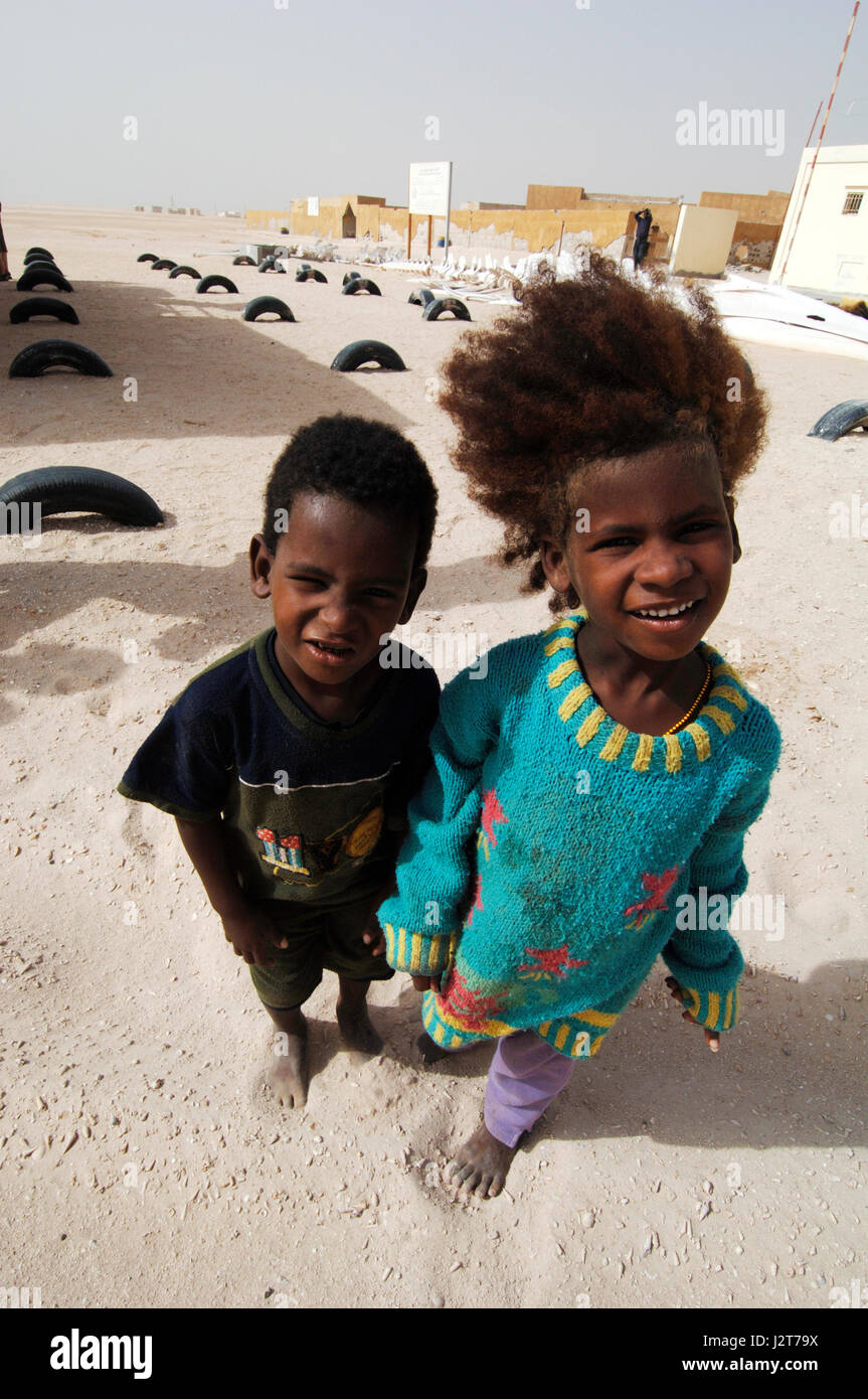 Wild adventure in the Western Sahara desert Mauritania West Africa - Stock Image