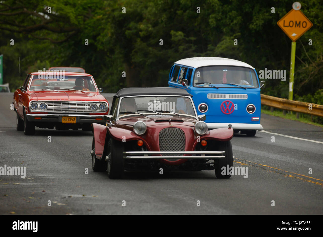 Dorado, Puerto Rico. 30th Apr, 2017. View of cars during an old car ...