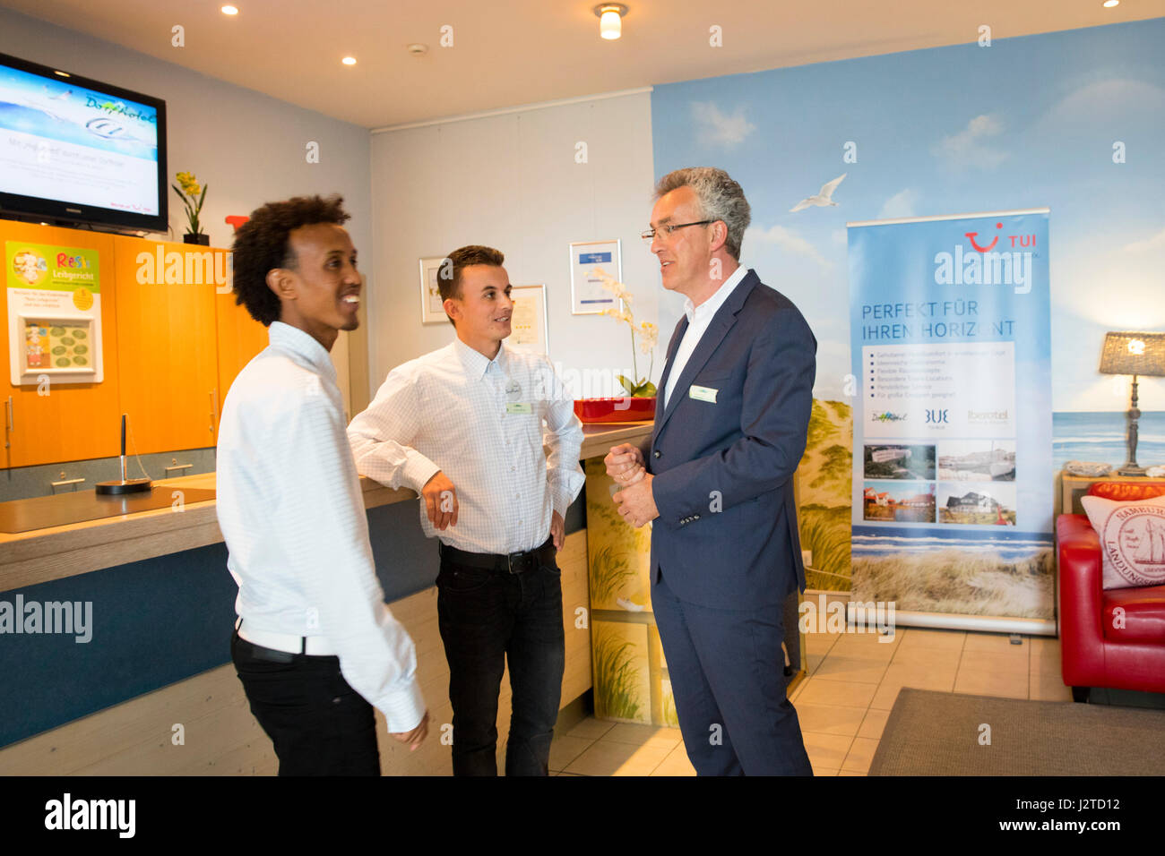 cheap wholesale differently Hotel director Gabor Hnizdo () talks to the two refugees ...