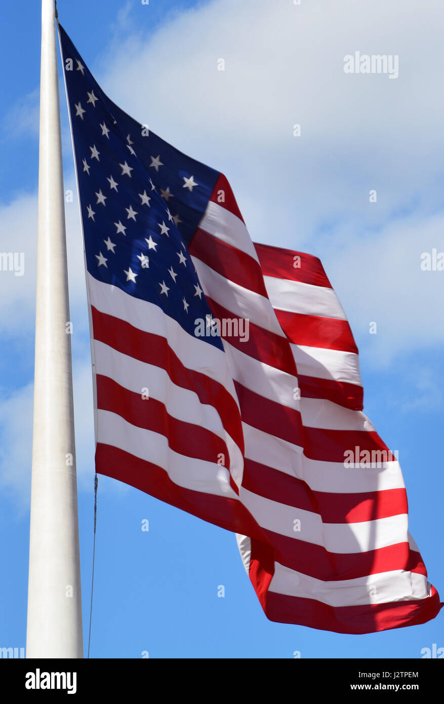 Photo of american flag flying