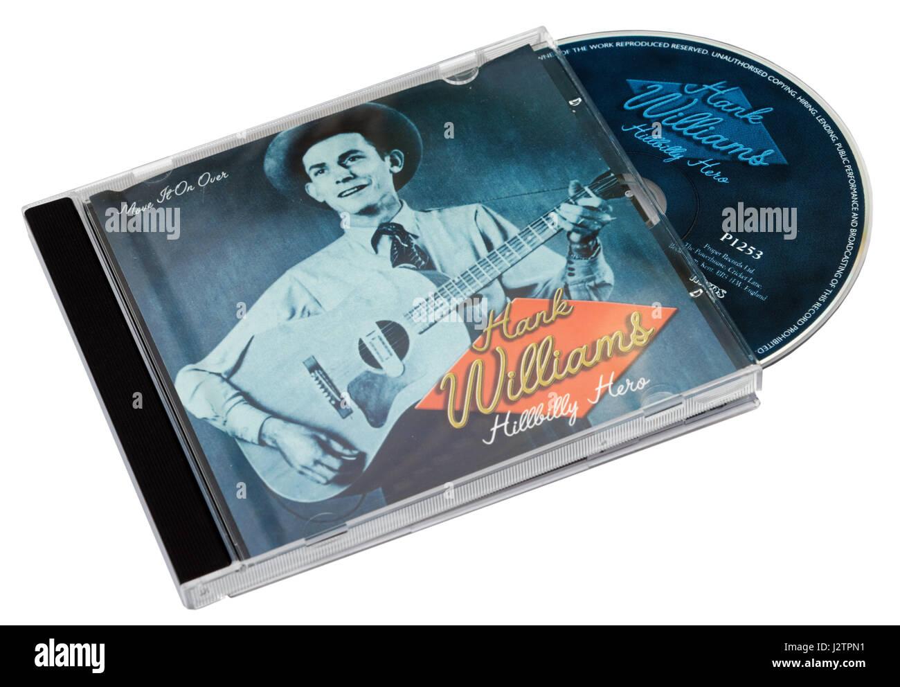 Hillbilly Hero CD by Hank Williams - Stock Image