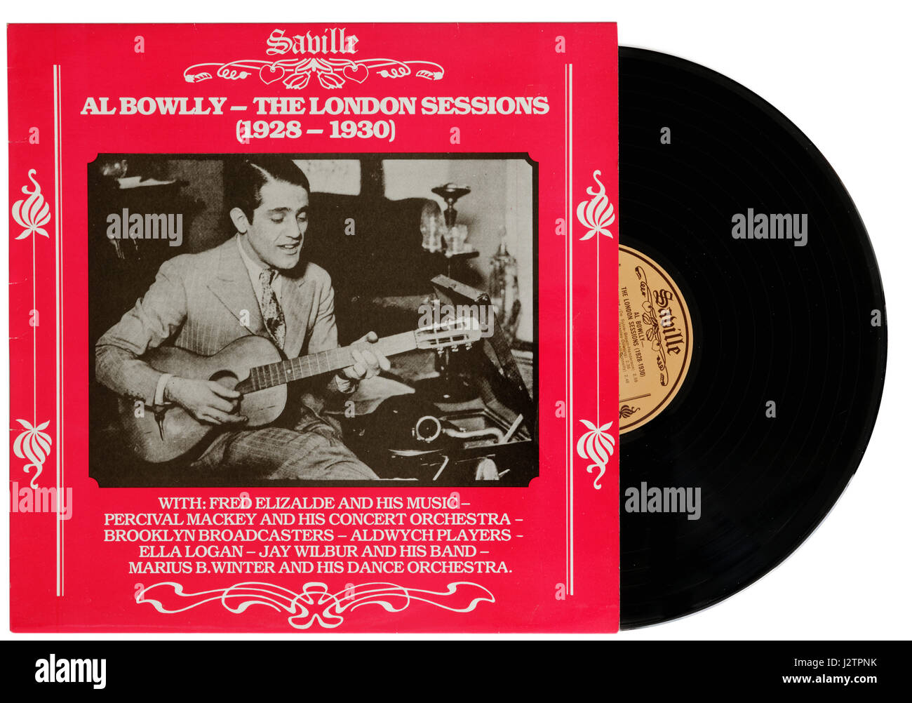 Al Bowly album London Sessions on vinyl - Stock Image