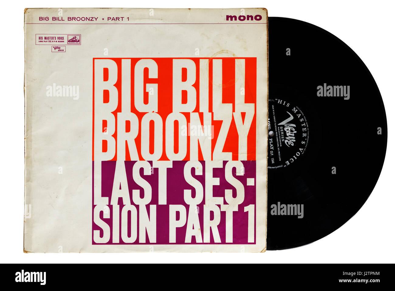 Big Bill Broonzy album Last Sessions Part 1 on vinyl - Stock Image