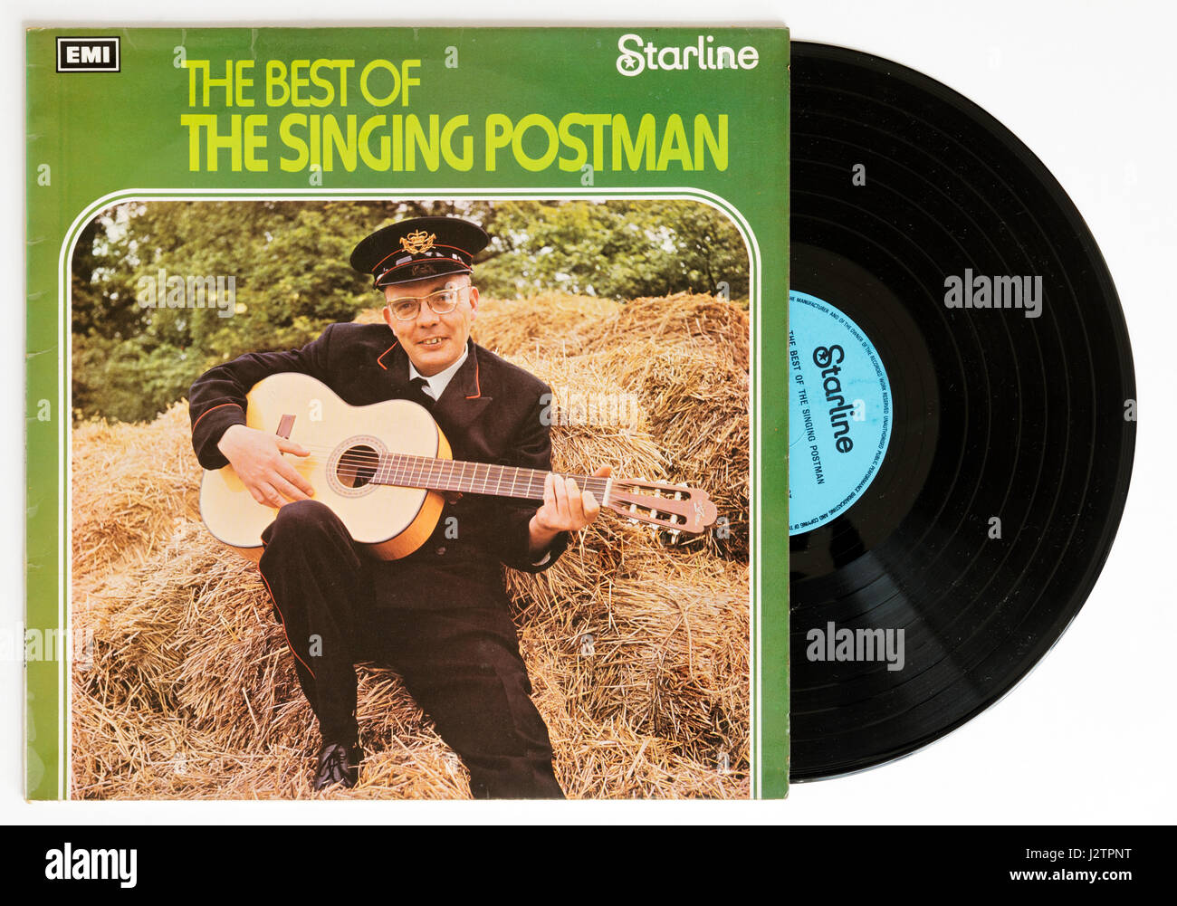 The Singing Postman album on vinyl - Stock Image