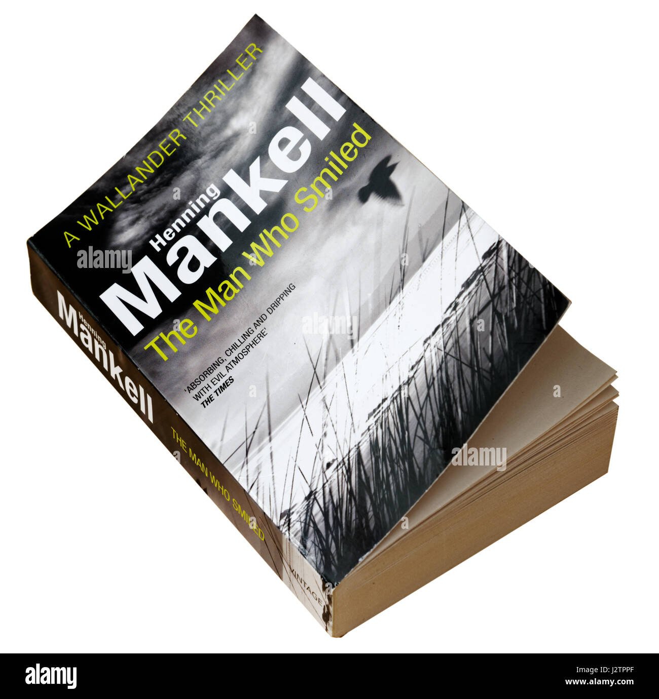 The Man Who Smiled by Henning Mankell - A detective Wallander story - Stock Image
