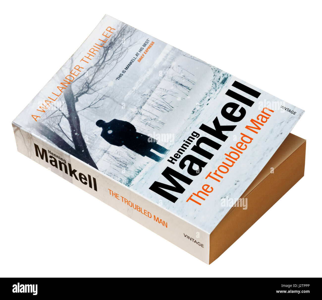 The Troubled Man  by Henning Mankell - A detective Wallander story - Stock Image