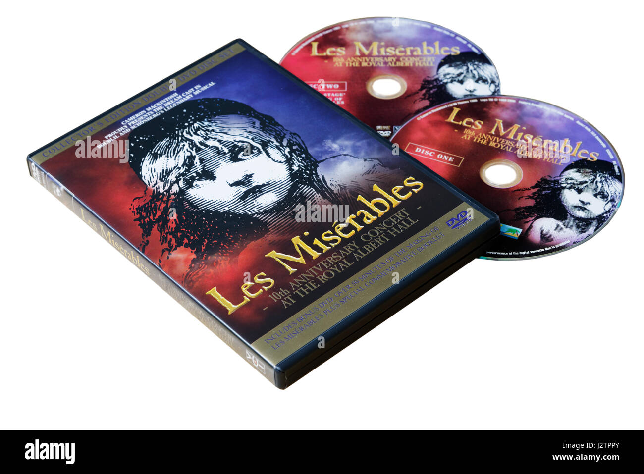 Les Miserables DVD - the 10th Anniversary show at the Royal Albert Hall - Stock Image