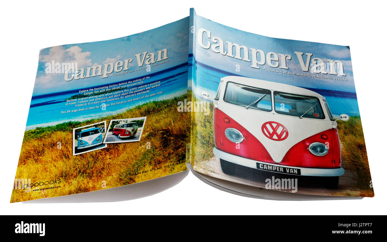 A book about the VW Camper - Stock Image