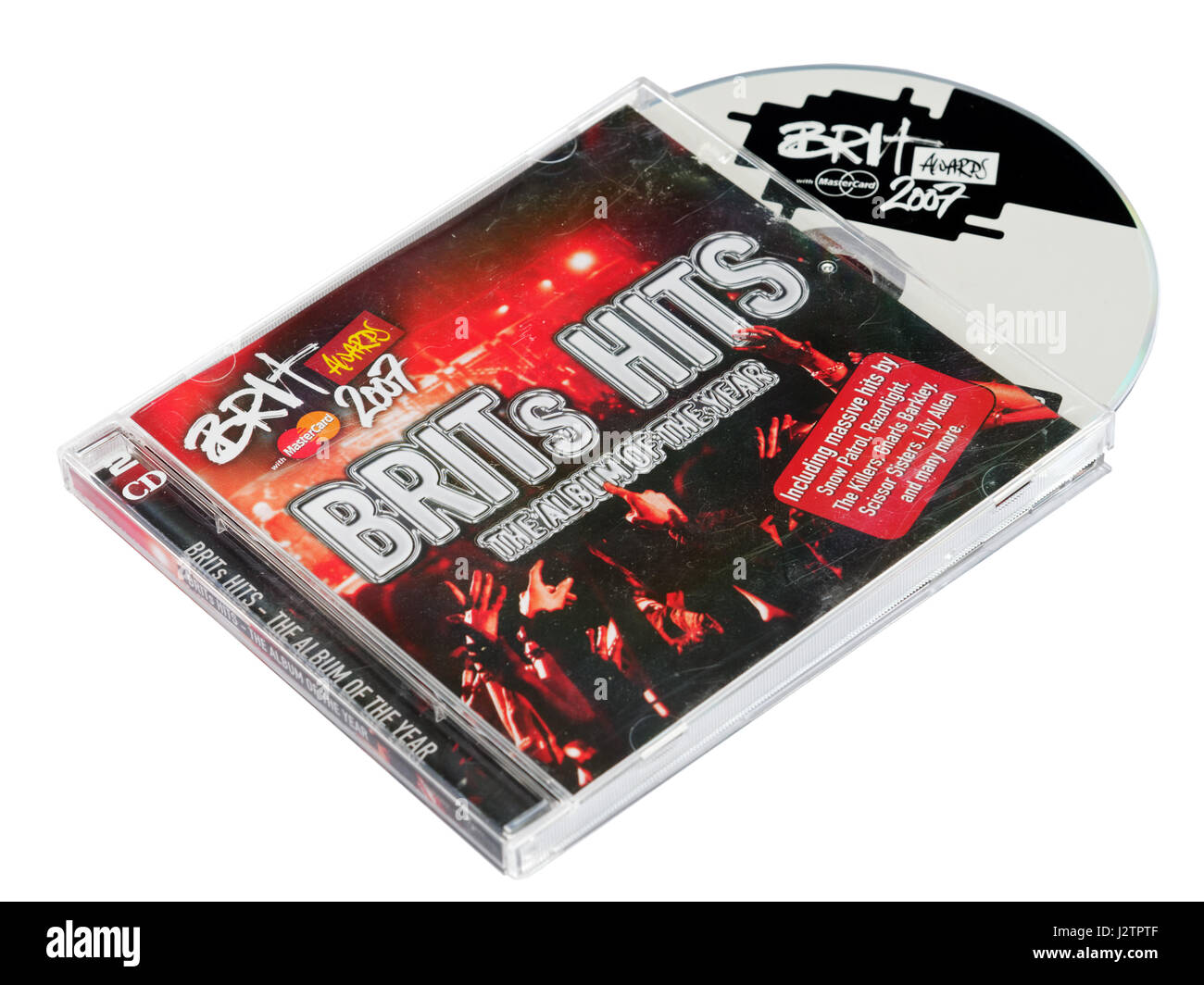 Brits Hits - a compilation CD of the best music from the annual Brit Awards - Stock Image