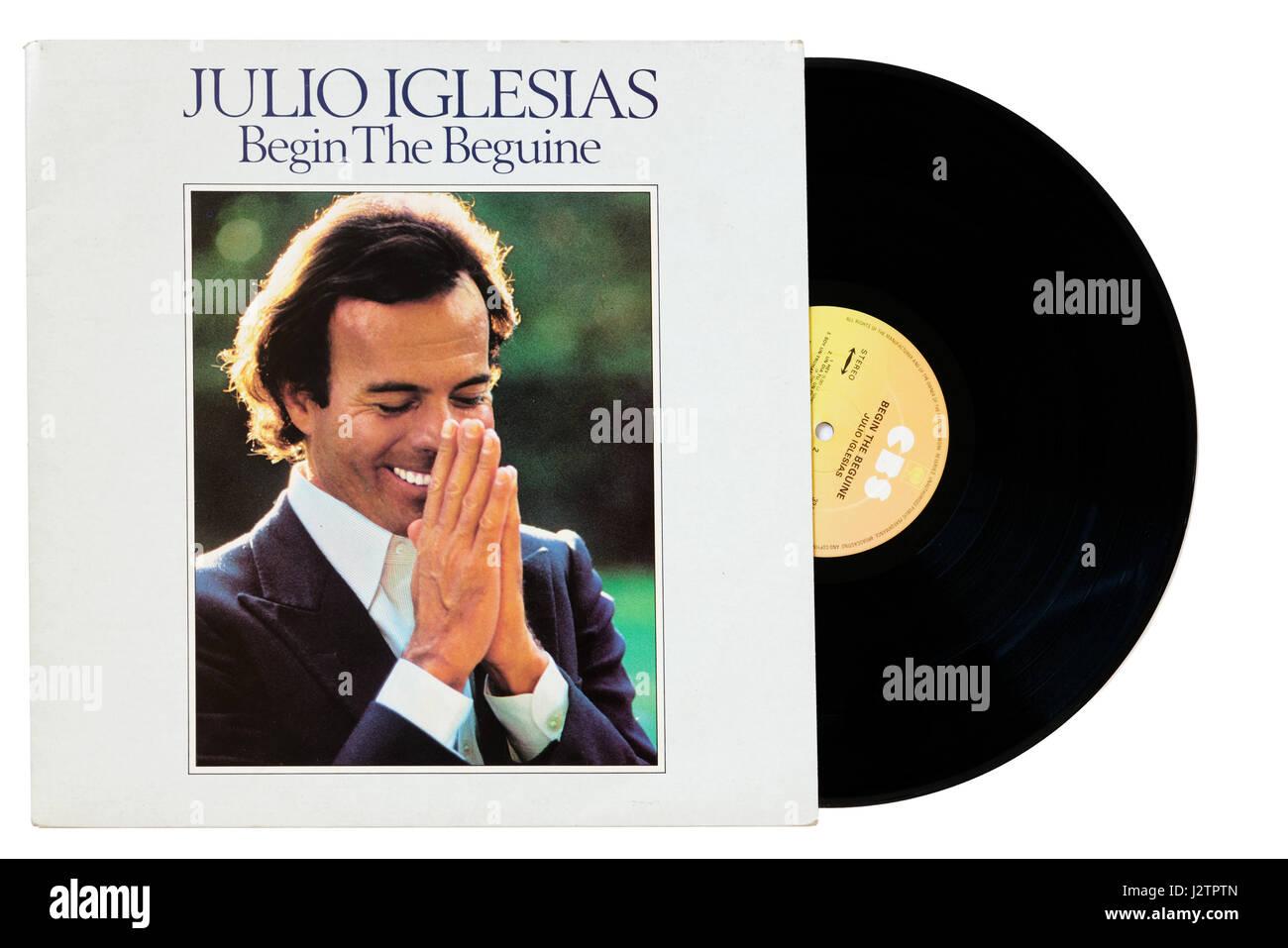 Julio Iglesias album Begin the Beguine - Stock Image