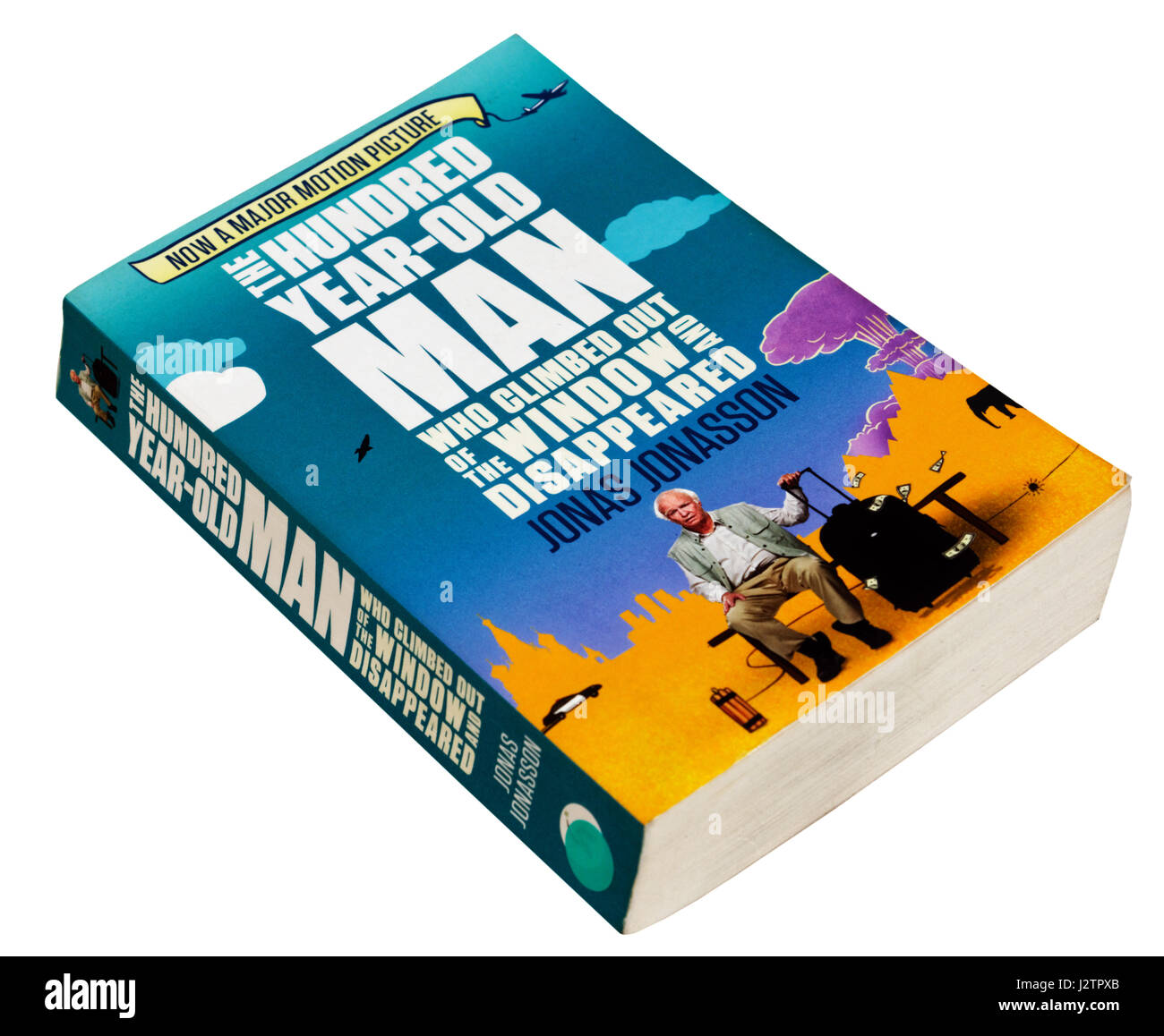 The Hundred Year Old Man Who Climbed Out The Window and Disappeared by Jonas Jonasson - Stock Image
