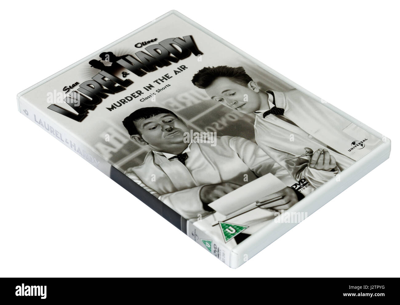Murder in the Air:  A Laurel and Hardy DVD of short films - Stock Image