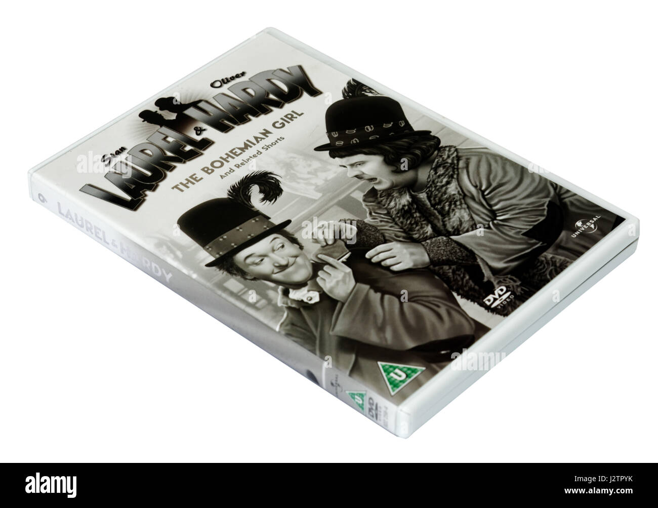 The Bohemian Girl:  A Laurel and Hardy DVD of short films - Stock Image