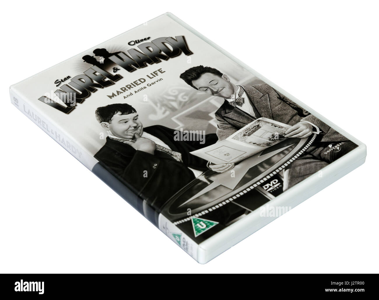 Married Life:  A Laurel and Hardy DVD of short films - Stock Image