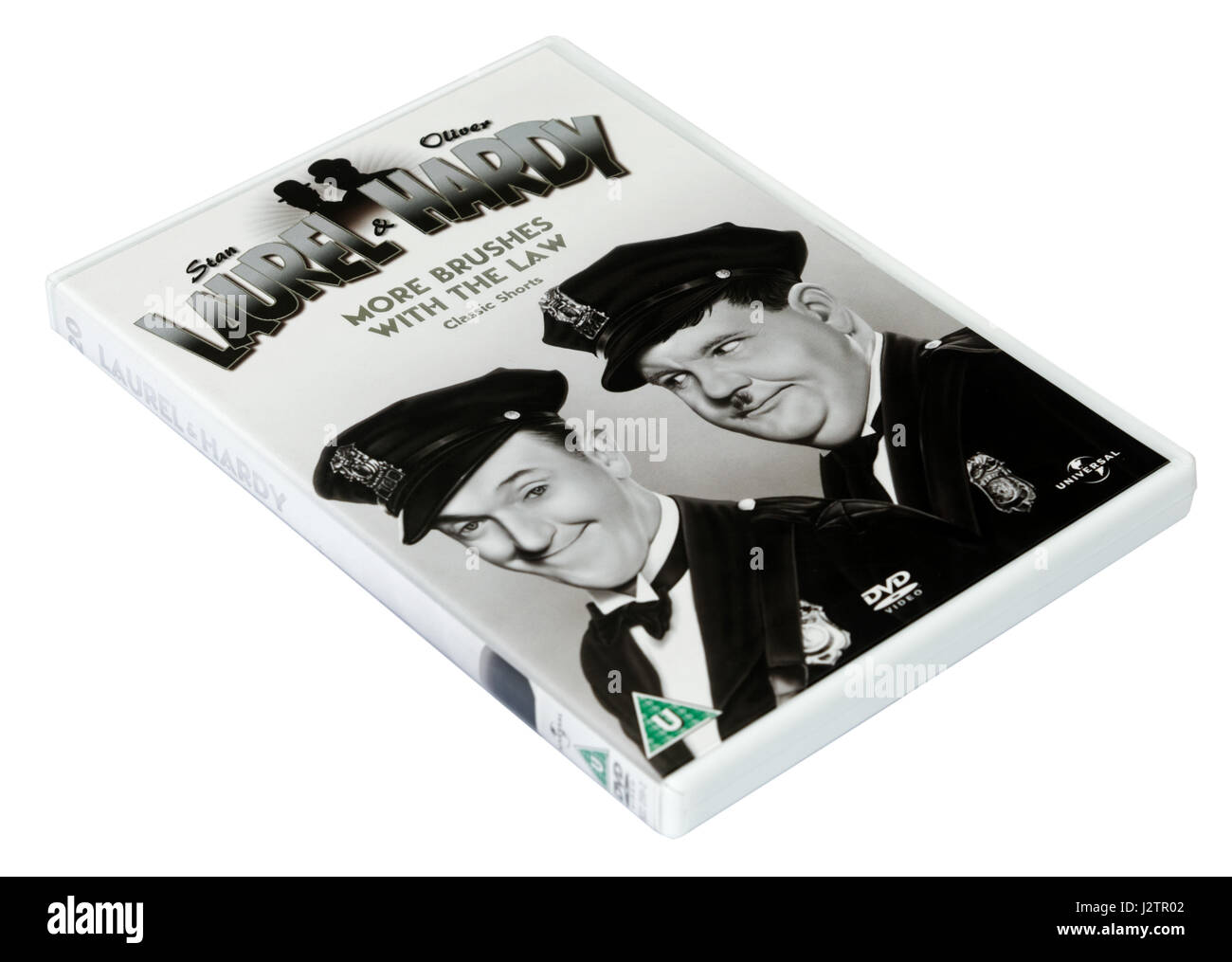 More Brushes With the Law: A Laurel and Hardy DVD of short films - Stock Image