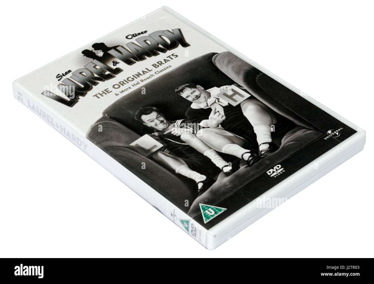 The Original Brats: A Laurel and Hardy DVD of short films - Stock Image