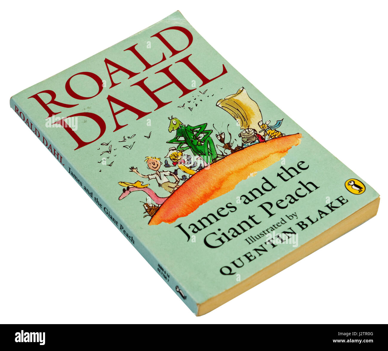 James and the Giant Peach by Roald Dahl - Stock Image