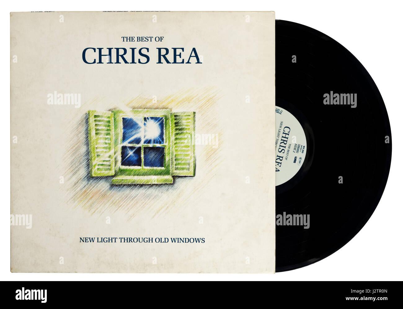 New Light Through Old Windows: The Best of Chris Rea vinyl record - Stock Image
