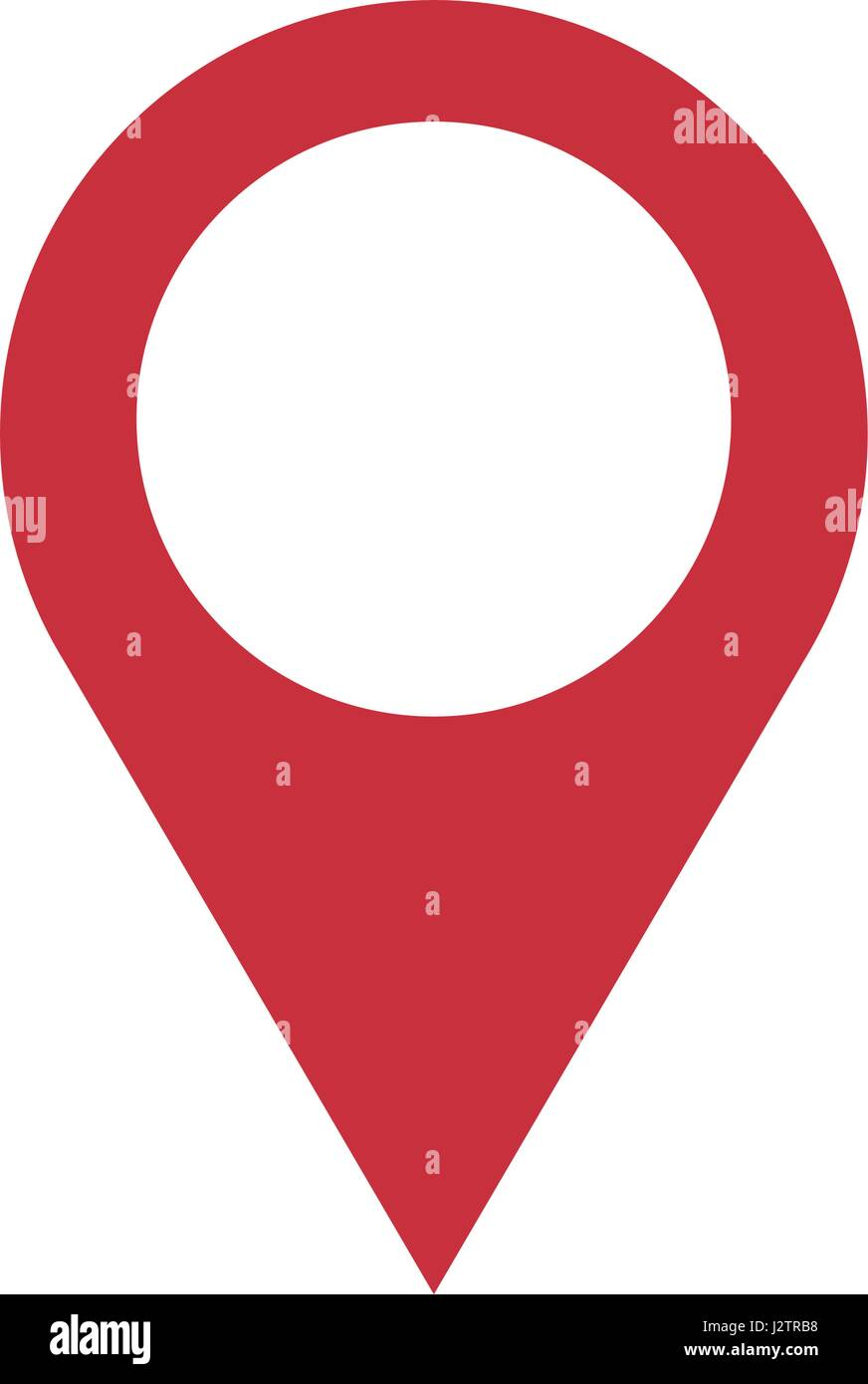 pin map navigation localization icon image - Stock Vector
