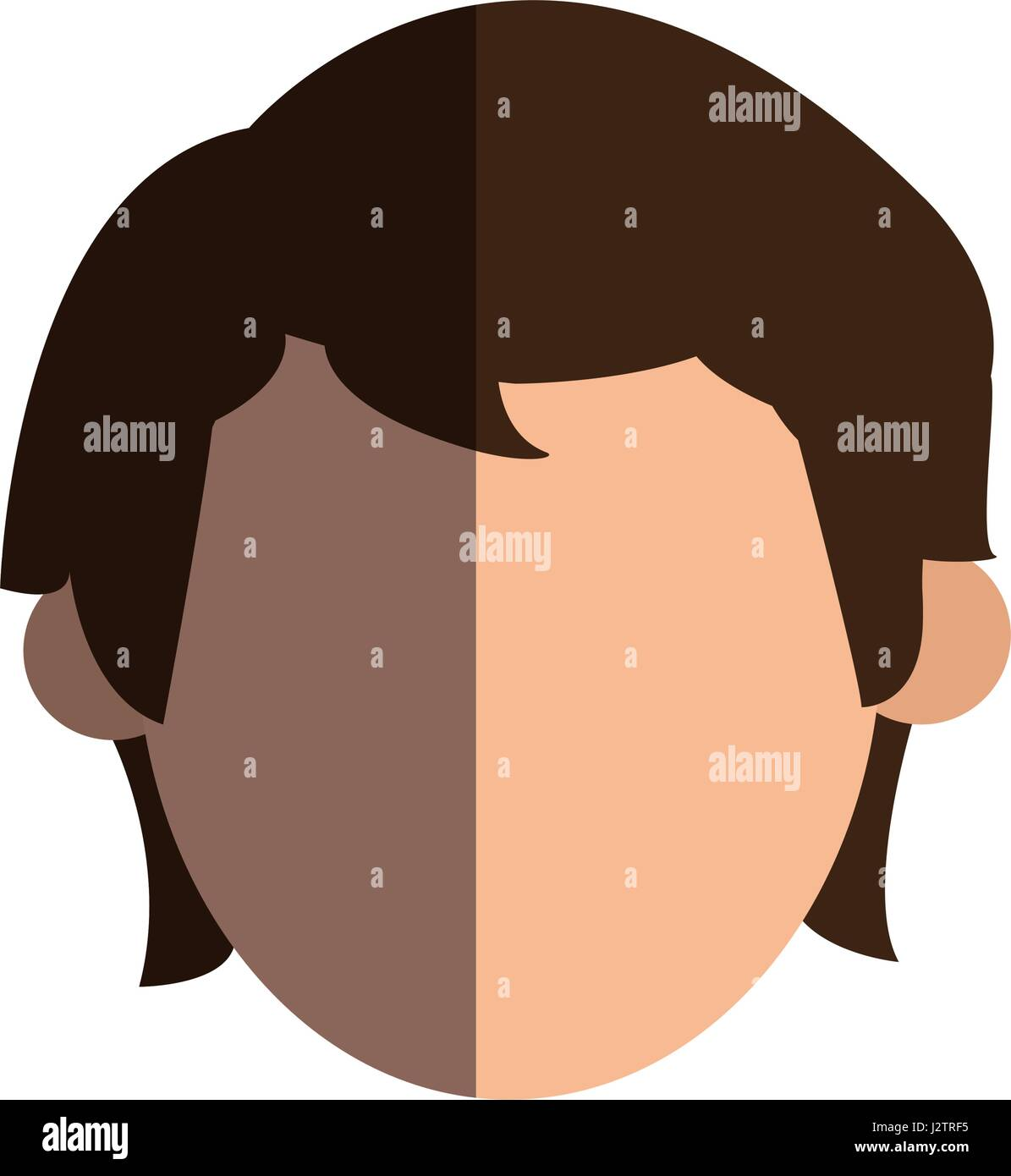 faceless head man people image Stock Vector