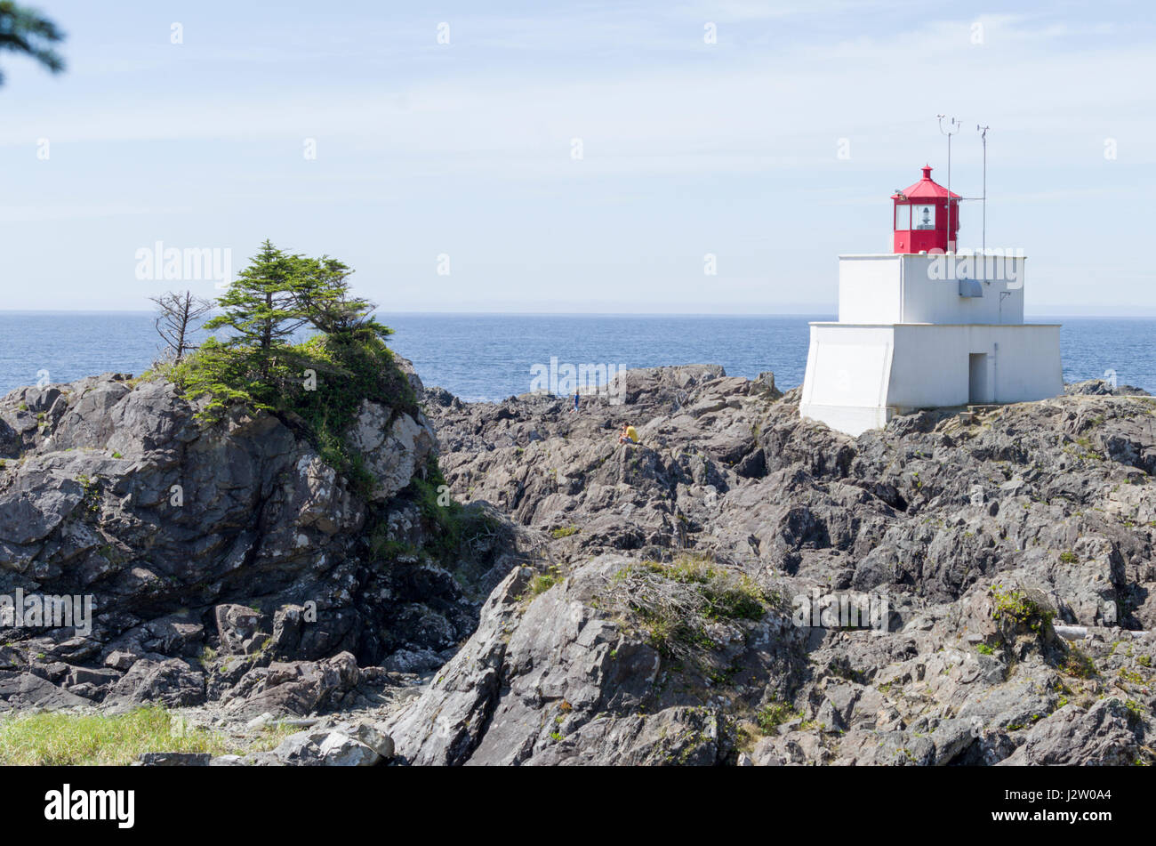 Lighthouse on the Ucluelet coast, Vancover Island, British Colmbia Canada - Stock Image