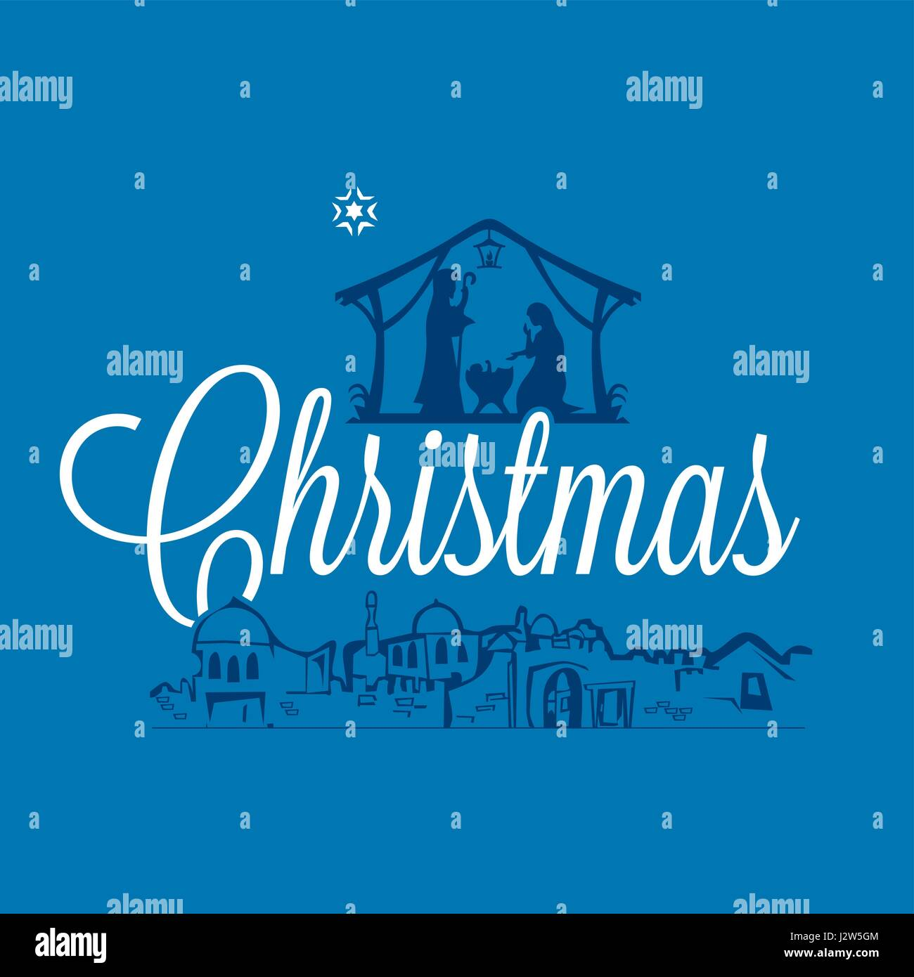 Merry Christmas Christian.Postcard Of A Merry Christmas The Scene Of The Birth Of