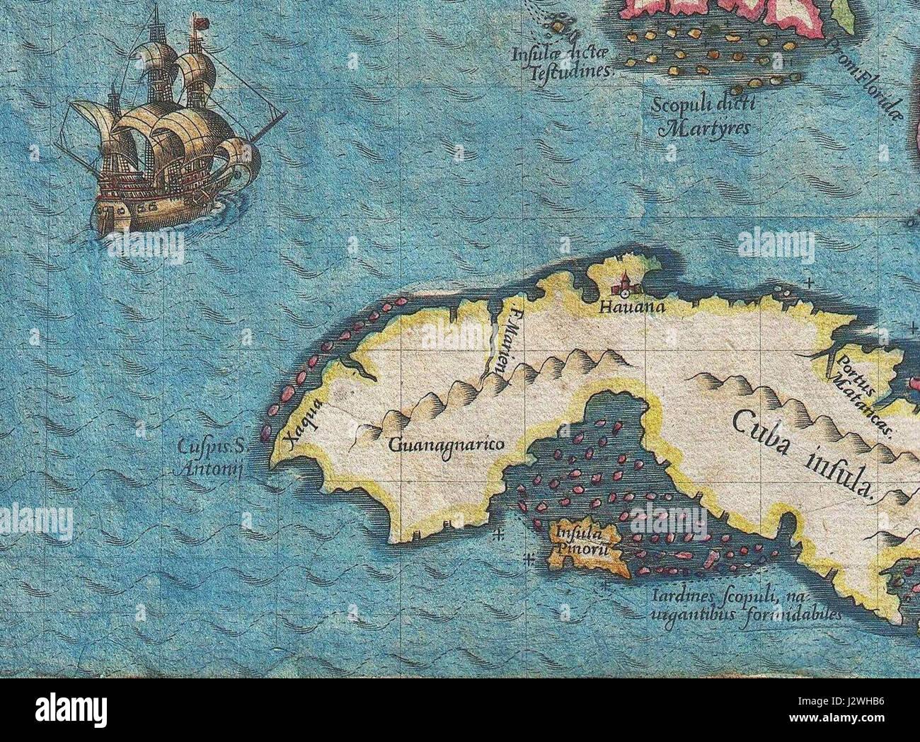 Map of cuba and florida stock photos map of cuba and florida stock 1591 de bry and le moyne map of florida and cuba 1591 stock image gumiabroncs Image collections