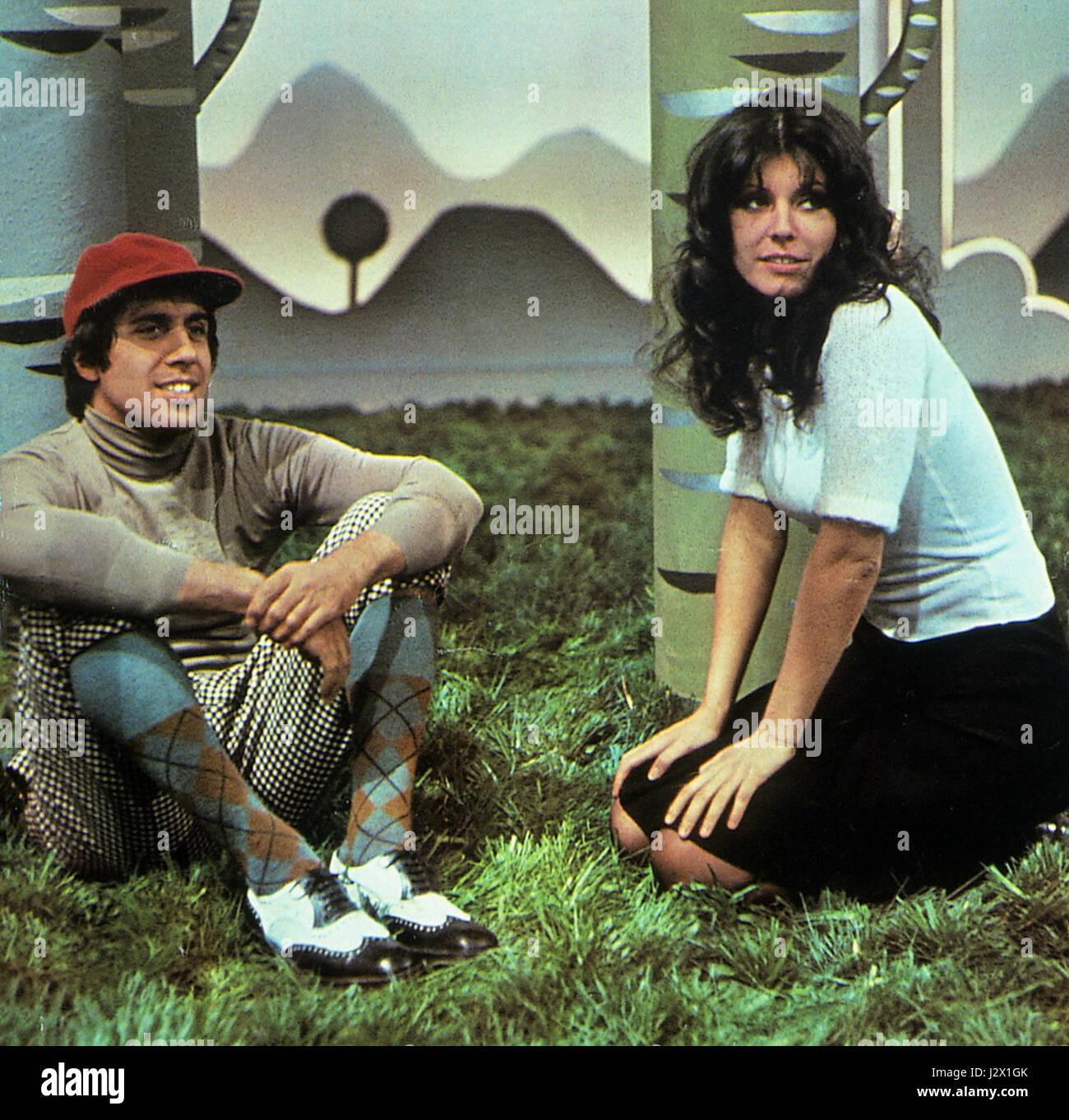 Adriano Celentano and Claudia Mori 72 - Stock Image