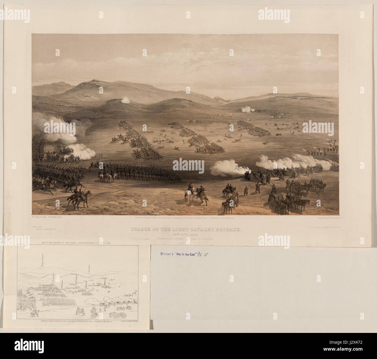 Charge of the Light Brigade Simpson - Stock Image