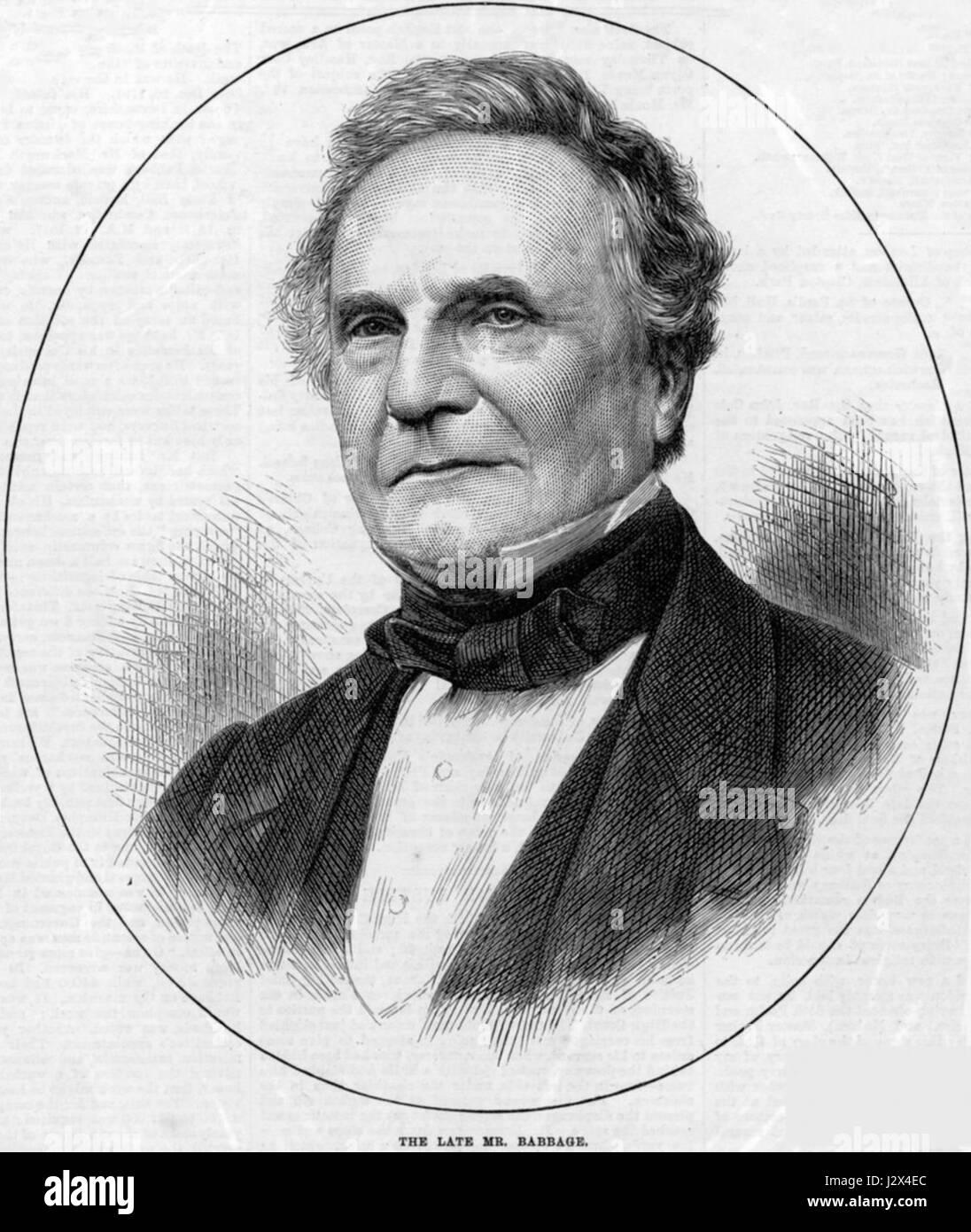 Charles Babbage 1860 - Stock Image