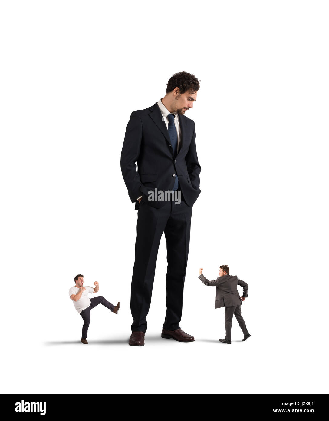 Employees who want to rebel at their boss - Stock Image