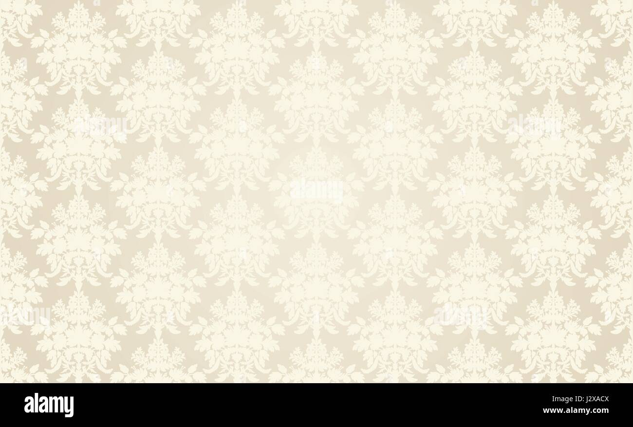 Beige Retro Wallpaper Background In Classic Style