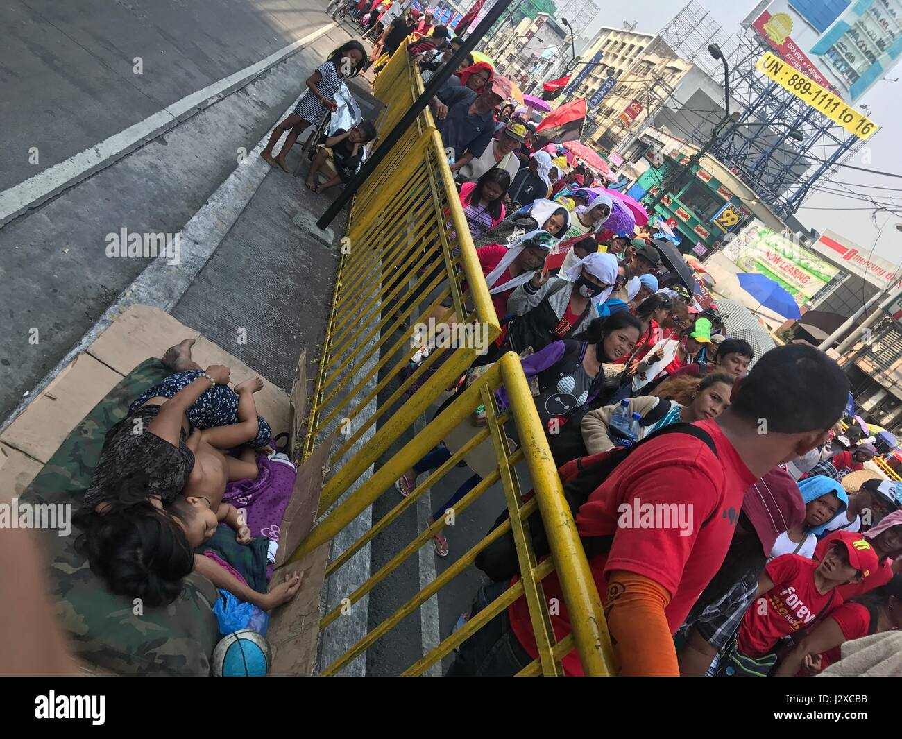 Manila, Philippines. 01st May, 2017. Thousands of labourers in Metro Manila and nearby suburbs joins the Labour - Stock Image