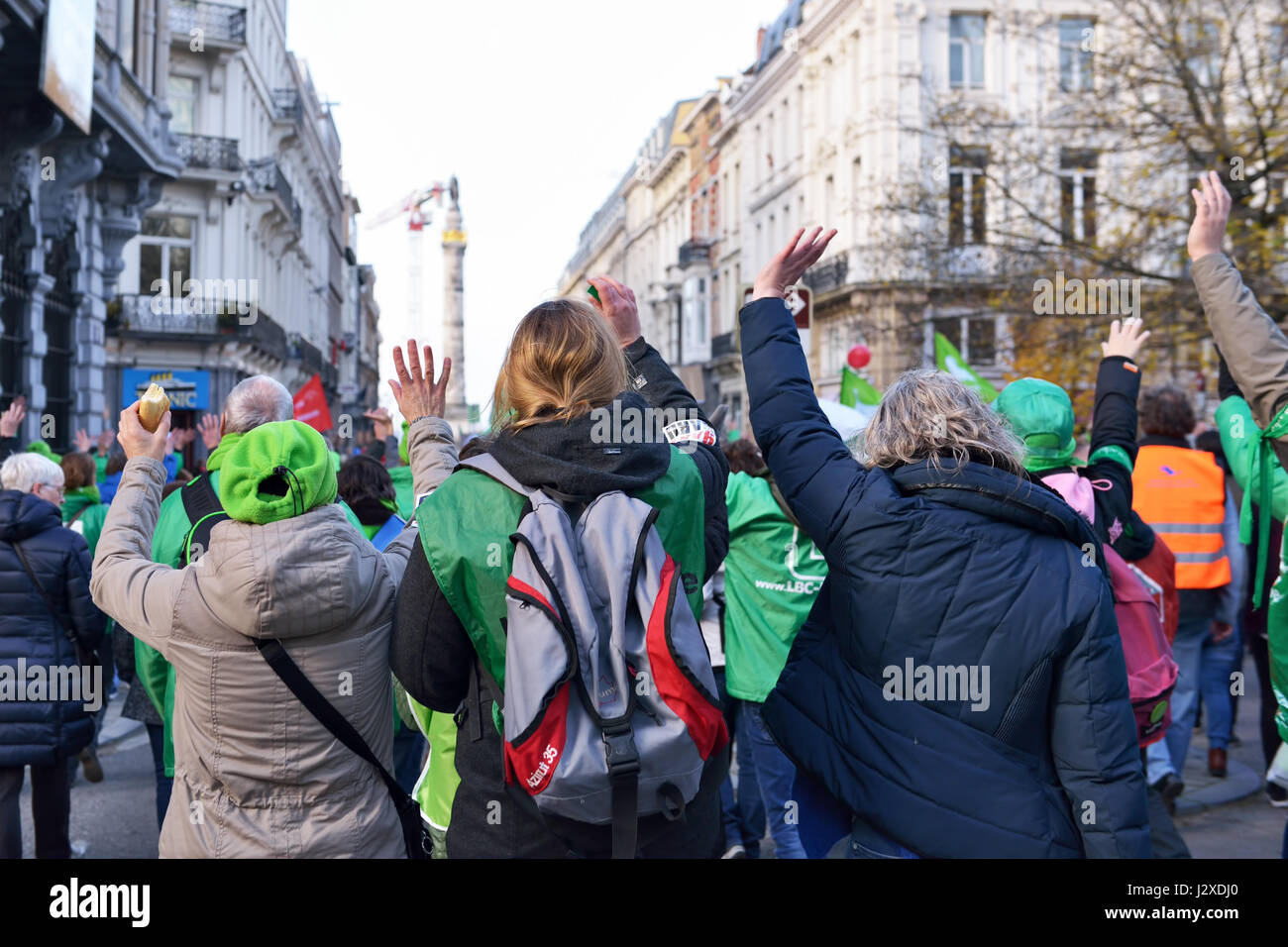 National Manifestation of employees of non-commercial sector collected about 20000 participants on November 24, - Stock Image