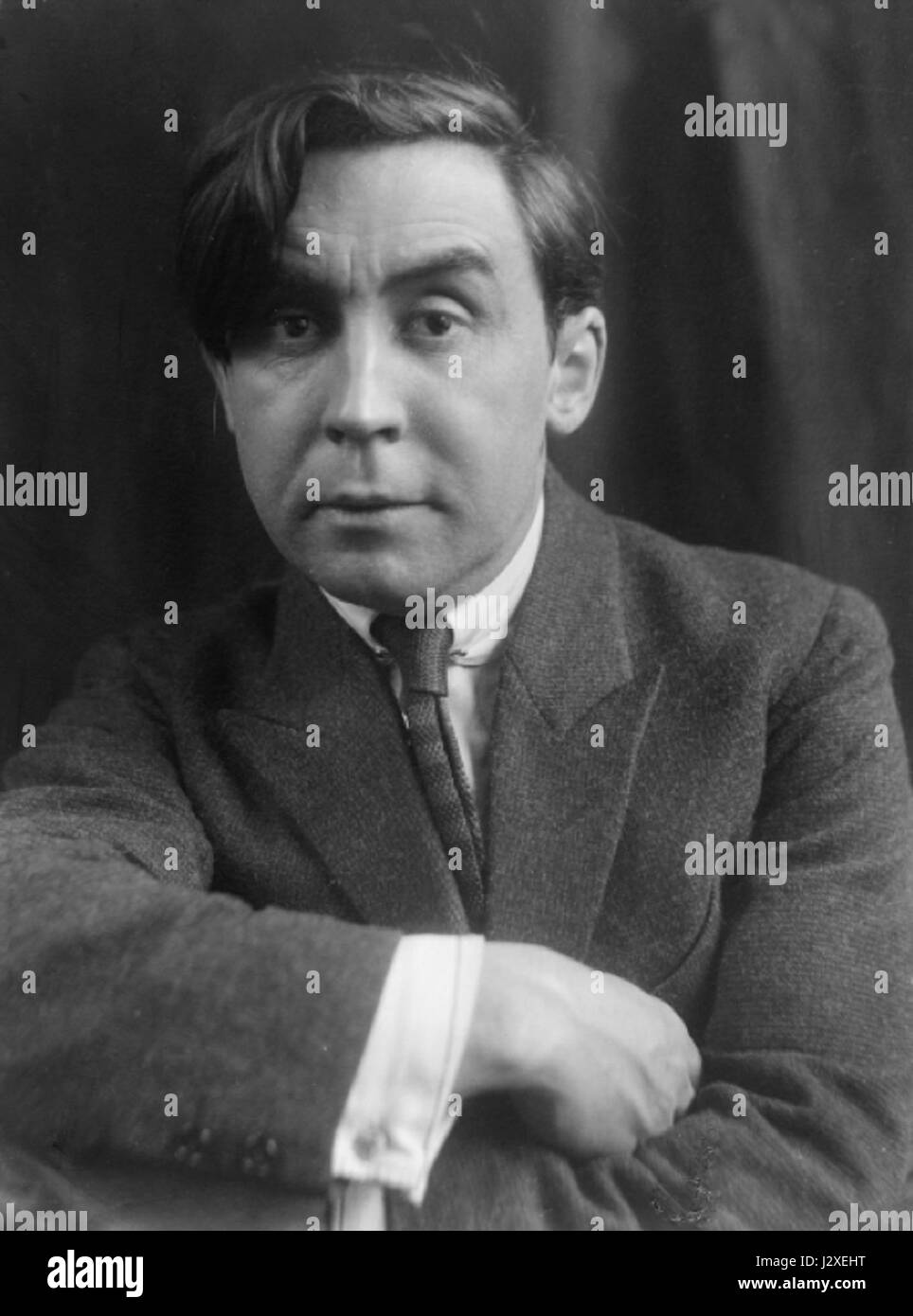 Albert Gleizes, c.1920, photograph by Pierre Choumoff. - Stock Image
