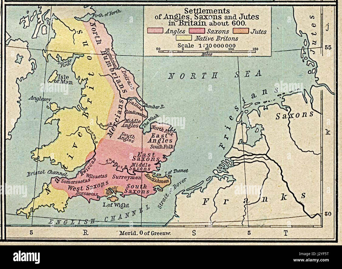 Angles, Saxons, Jutes in Britain year 600 - Stock Image