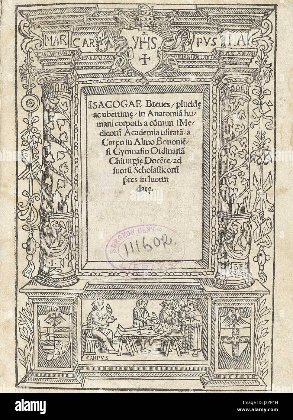 Berengario title Stock Photo