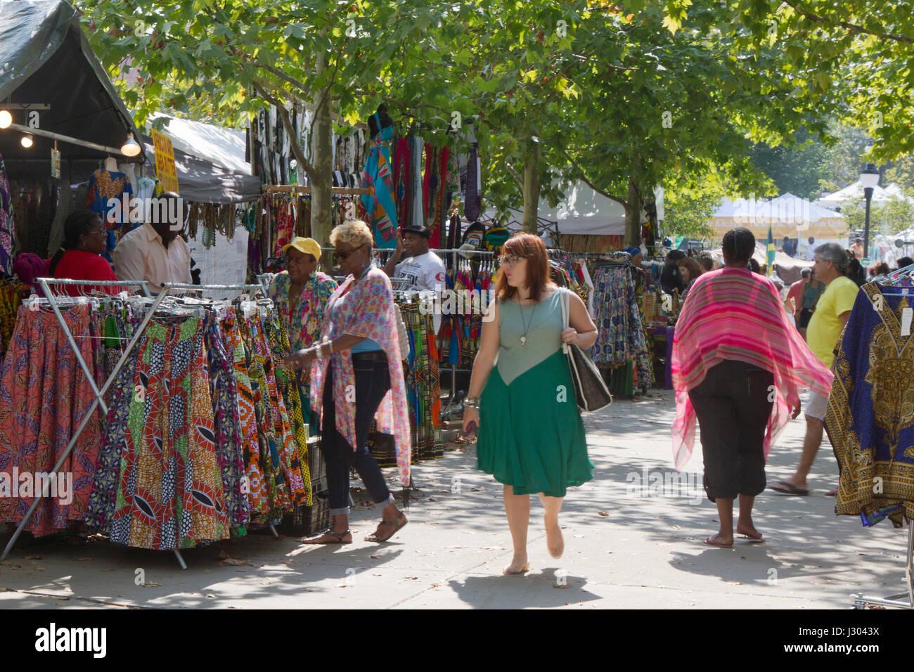 Asheville, North Carolina, USA - September 9, 2016: The 2016 Goombay Festival, a three day festival that celebrates - Stock Image