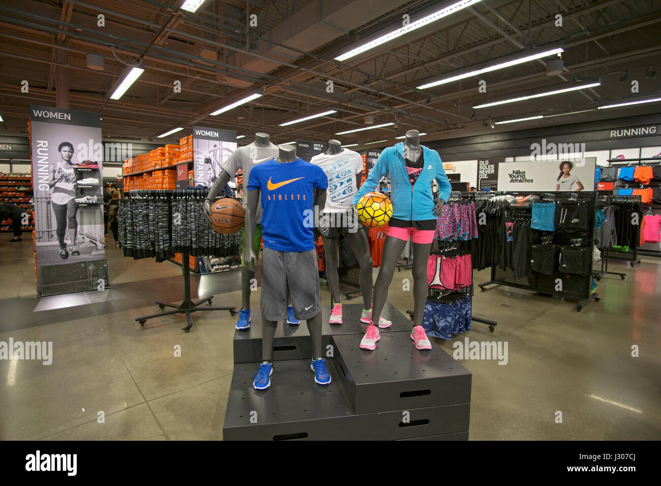 Nike outlet store at Tanger Stock Photo
