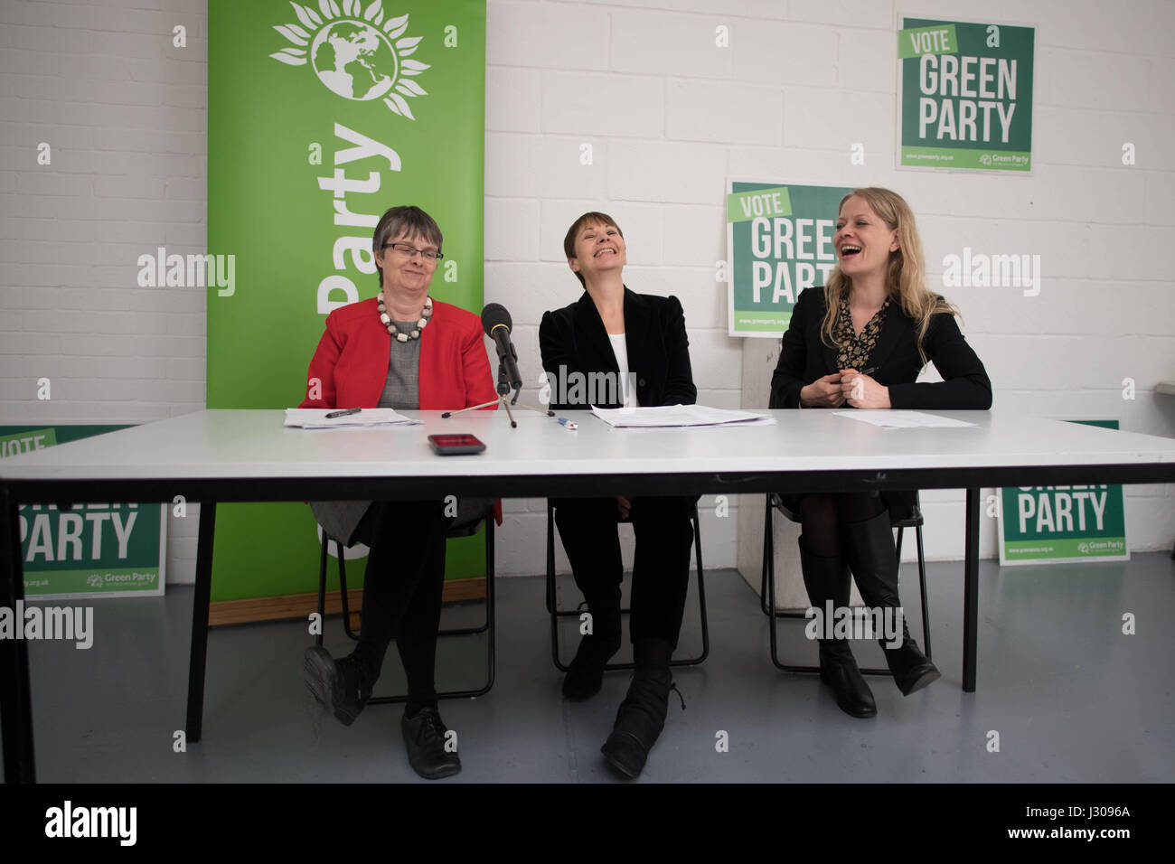 Co-Leader of the Green Party, Caroline Lucas, during the launch of the Green Party Brexit policy with Green MEP - Stock Image