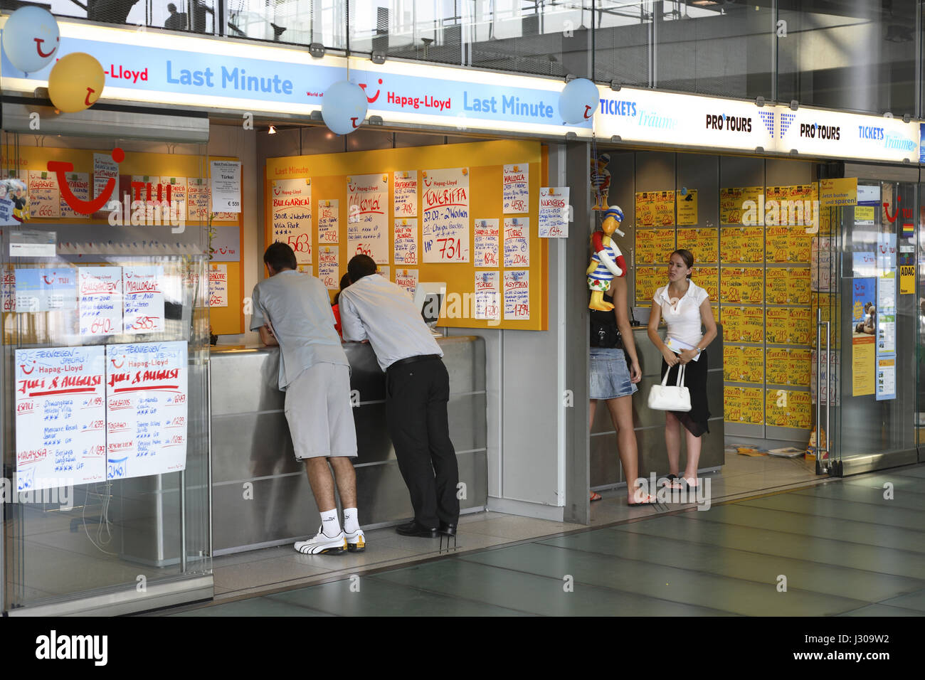 Germany, Cologne, tourist offices at the terminal 2 of the Airport Cologne-Bonn. - Stock Image