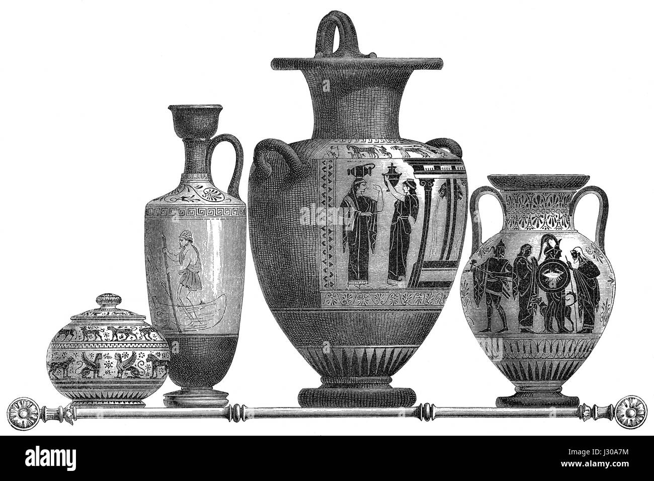 Vases from ancient Greece - Stock Image