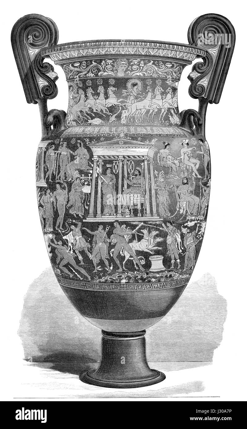 An amphora from ancient Greece - Stock Image