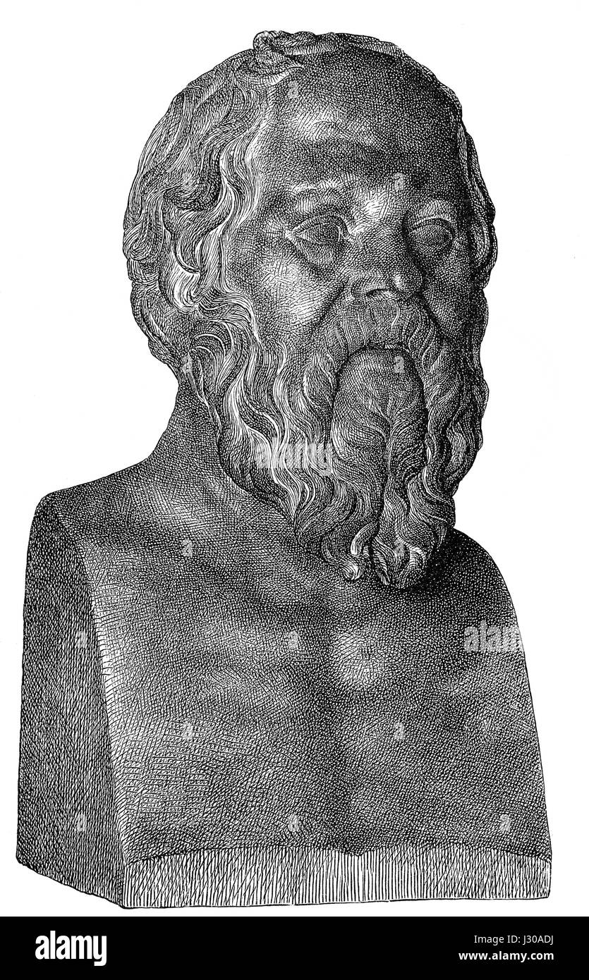 Socrates, 469-399 BC, philosopher of ancient Greece - Stock Image