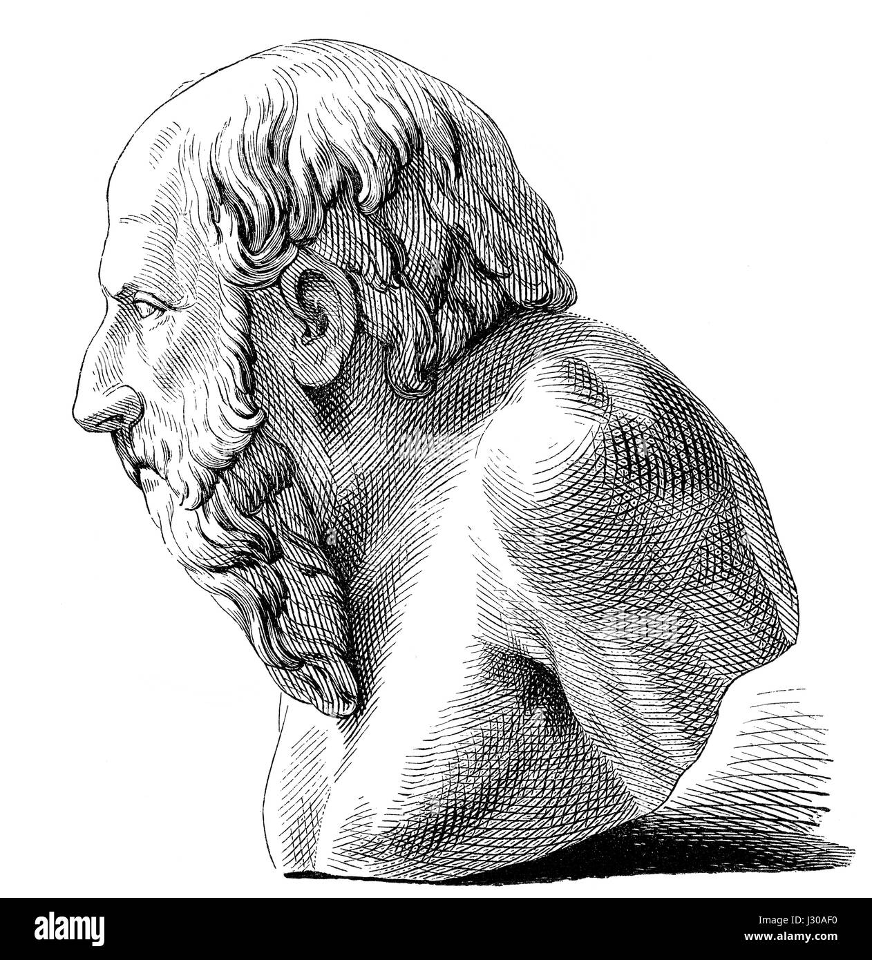 Diogenes, a ancient Greek philosopher - Stock Image