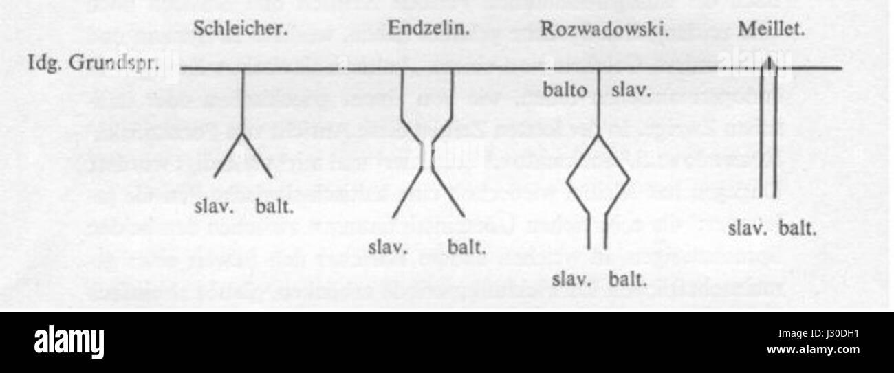 Balto-Slavic theories - Stock Image